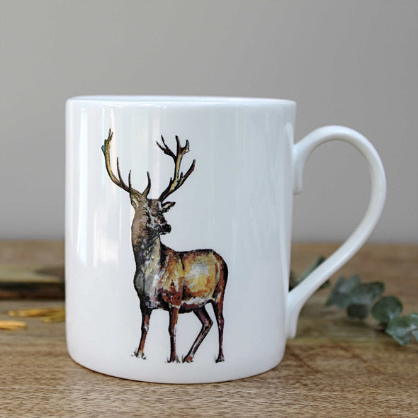 Homeware - Bone China Stag Mug