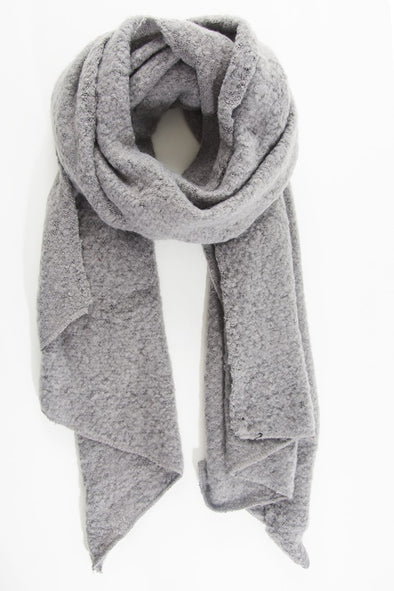 Dark Grey Textured Asymmetric Scarf