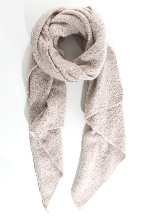 Pink Textured Asymmetric Scarf