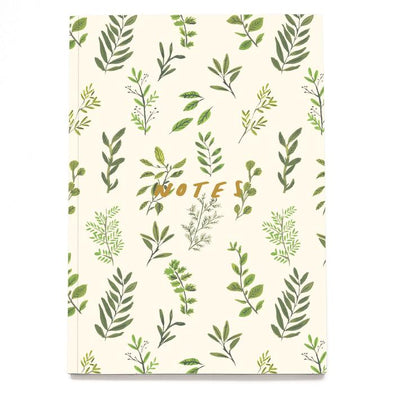 Foliage Linen Notebook