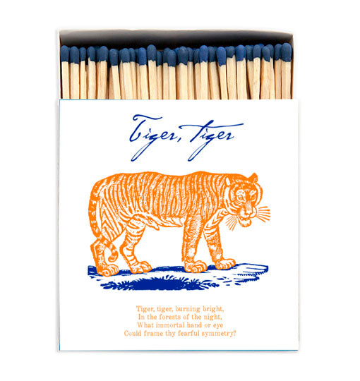 Tiger Tiger Luxury Matches in Letterpress Printed Box