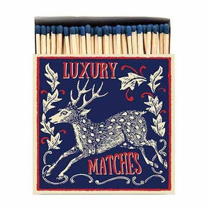 Reindeer Luxury Matches in Letterpress Printed Box