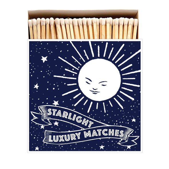 Starlight Luxury Matches in Letterpress Printed Box