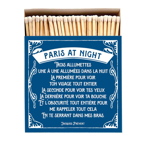 Paris at Night Luxury Matches in Letterpress Printed Box