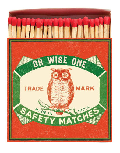Wise Owl Luxury Matches in Letterpress Printed Box