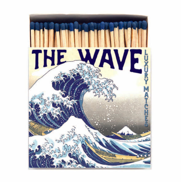 The Wave Luxury Matches in Letterpress Printed Box