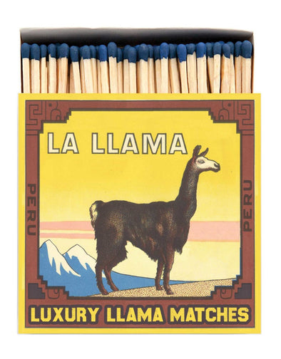 La Llama Luxury Matches in Letterpress Printed Box