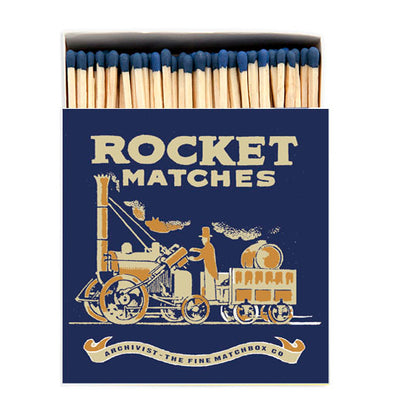 Rocket Luxury Matches in Letterpress Printed Box