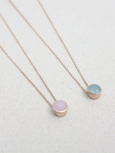 Rose Gold Dot Necklace