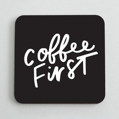 Set Of 2 Coffee First Coasters