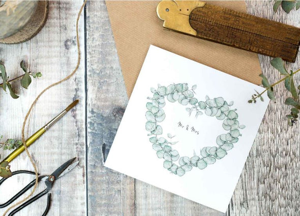 Mr & Mrs Eucalyptus Card