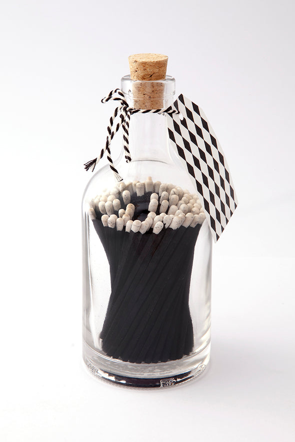Decorative Matches - Glass Jar Matches Black