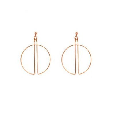 Hoop Earrings Rose Gold