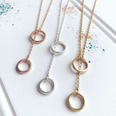 Tara Osborne Rose Gold Plated Double Loop Necklace
