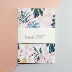 Chloe Hall Pink Floral A6 Notebook