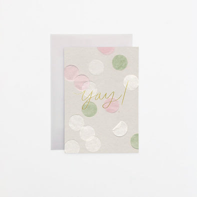 Yay Coloured Confetti Card
