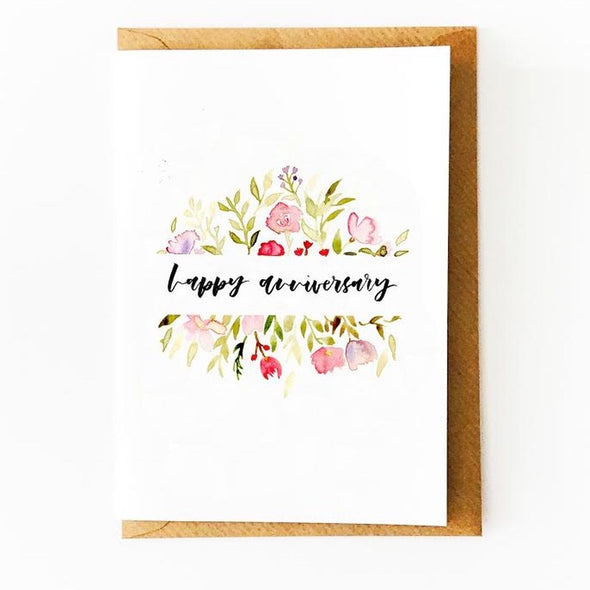 Happy Anniversary Floral Card