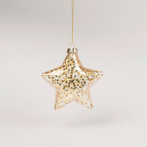 Christmas Bauble - Glitter Star