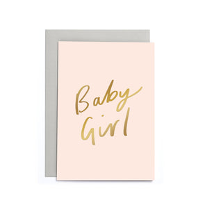 Newborn Card - Baby Girl