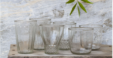 Tableware - Assorted Recycled Glasses