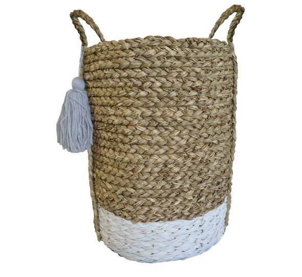 Tall Tassel Basket