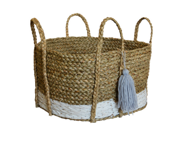 Short Tassel Basket