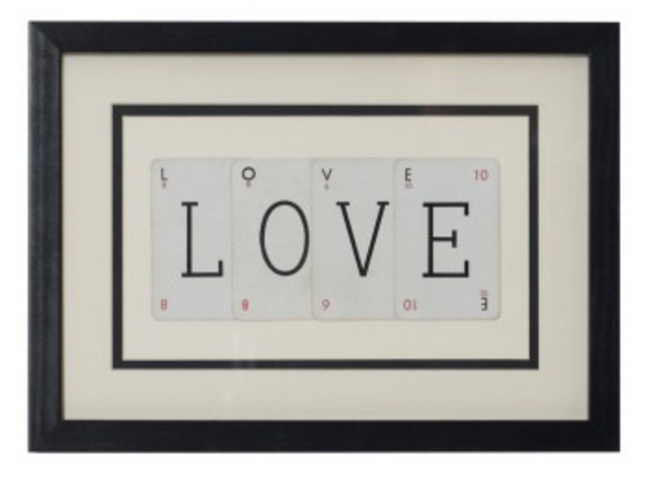 Vintage Playing Cards- 'Love' Frame