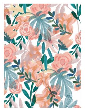 Chloe Hall Orange Floral A6 Notebook