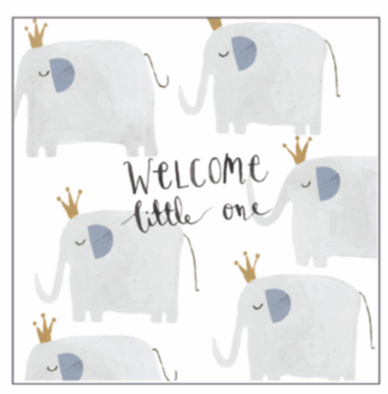Anna Victoria Elephant Little One Card