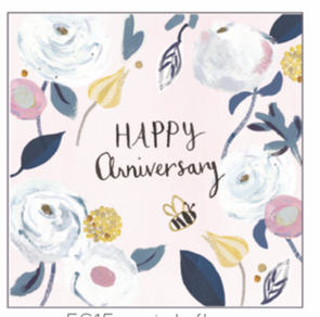 Anna Victoria Pink Floral Anniversary Card