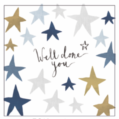 Anna Victoria Stars Well Done Card