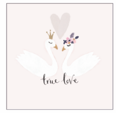 AV True Love Swans Card