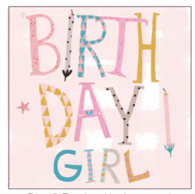 Anna Victoria Birthday Girl Card
