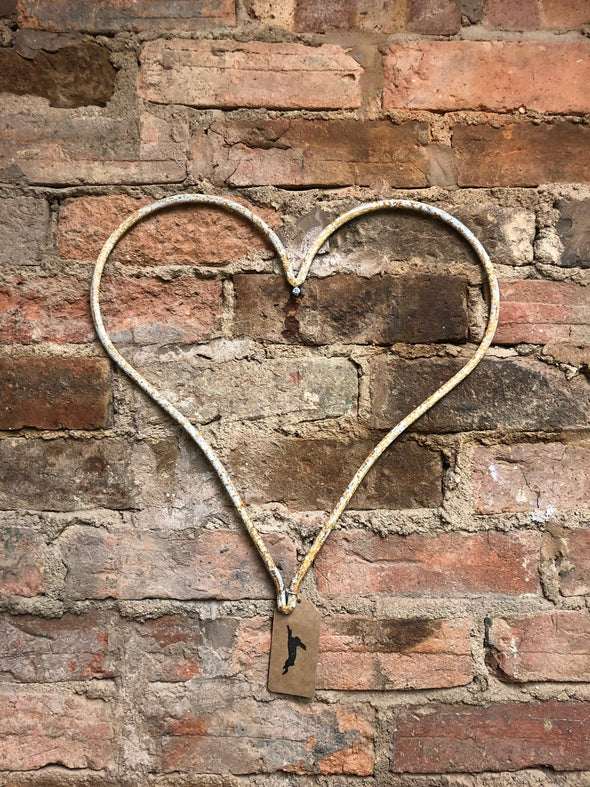 Distressed Metal Heart