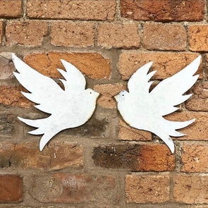 Rustic Metal Dove Wall Art
