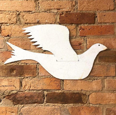 Rustic Metal Shaker Style Dove Wall Art