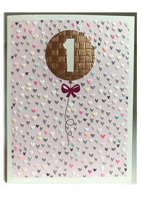 Girls 1st Birthday Card
