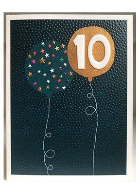 Boys 10th Birthday Card