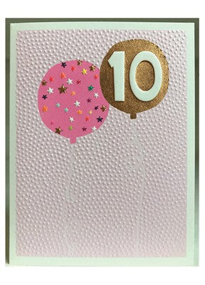 Girls 10th Birthday Card