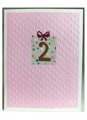 Girls 2nd Birthday Card