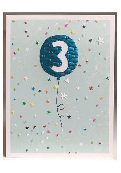 Boys 3rd Birthday Card