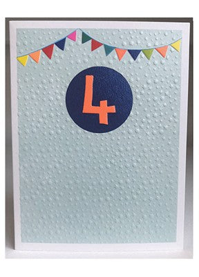Boys 4th Birthday Card
