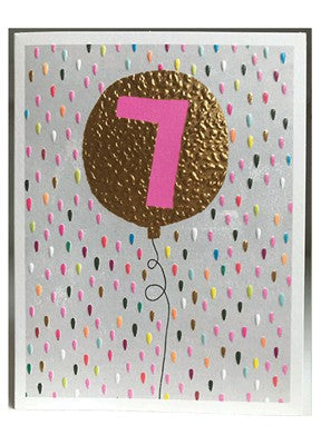 Girls 7th Birthday Card