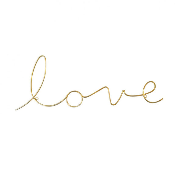 Love Gold Wire Word