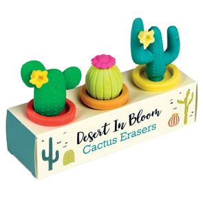 Set of 3 Cactus Eraser Pack