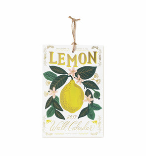 Rifle Paper Co. Lemon Kitchen Wall Calendar