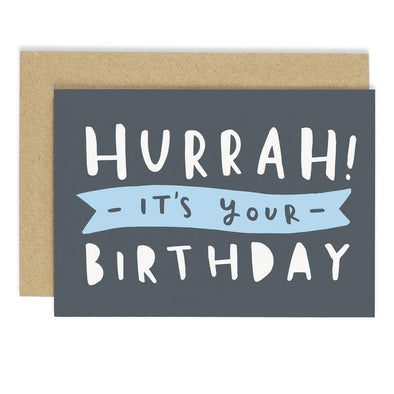 Hurrah Birthday Card