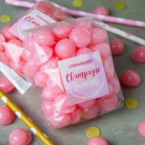 Strawberry Champagne Alcoholic Bubble Sweets