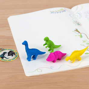 Colourful Dinosaur Eraser Pack