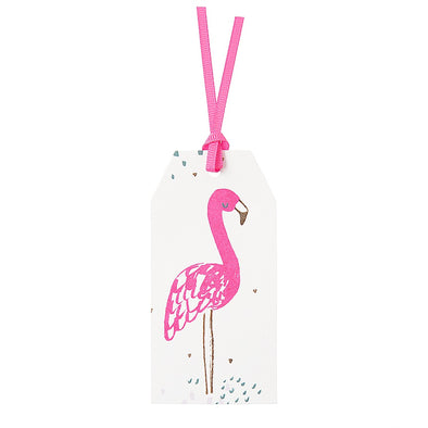 Neon Flamingo Gift Tags